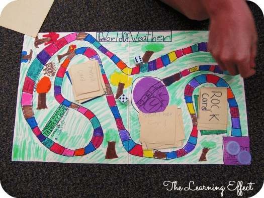 kid playing student created science board games