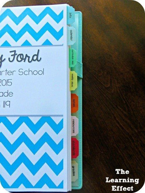 teacher planner divider tabs