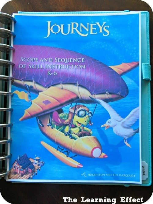 Journeys scope and sequence