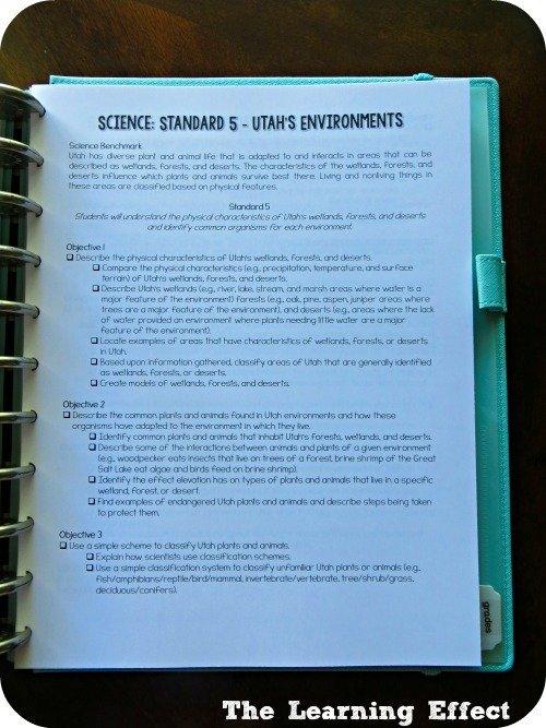 printed curriculum standards