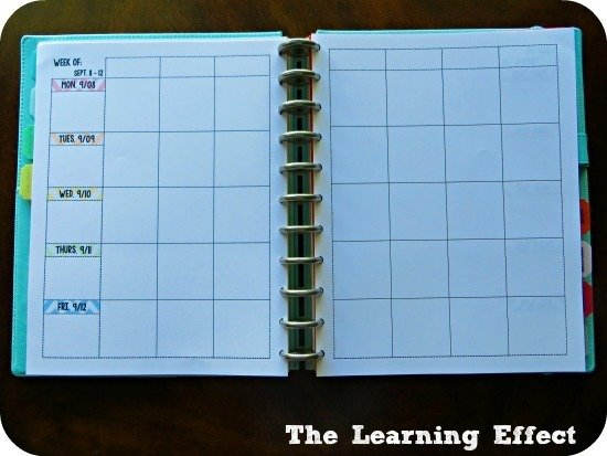 chevron teacher planner weekly lesson plans spread