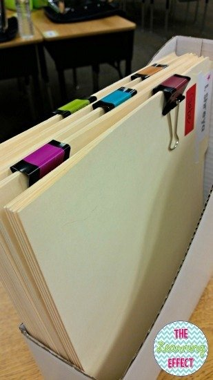 classroom economy banking folders