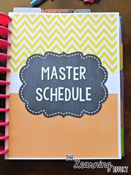teacher planner master schedule cover