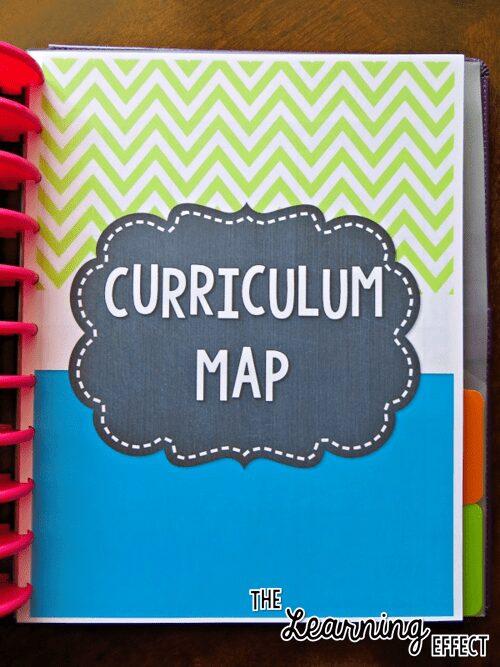 teacher planner curriculum map cover