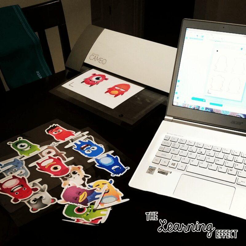 ClassDojo monsters, laptop, Silhouette Cameo