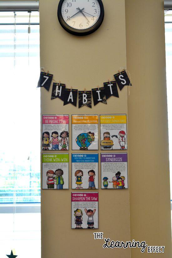 7 habits of happy kids posters