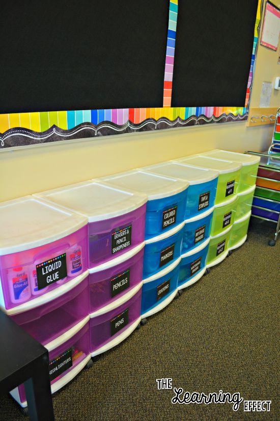 student supply storage drawers