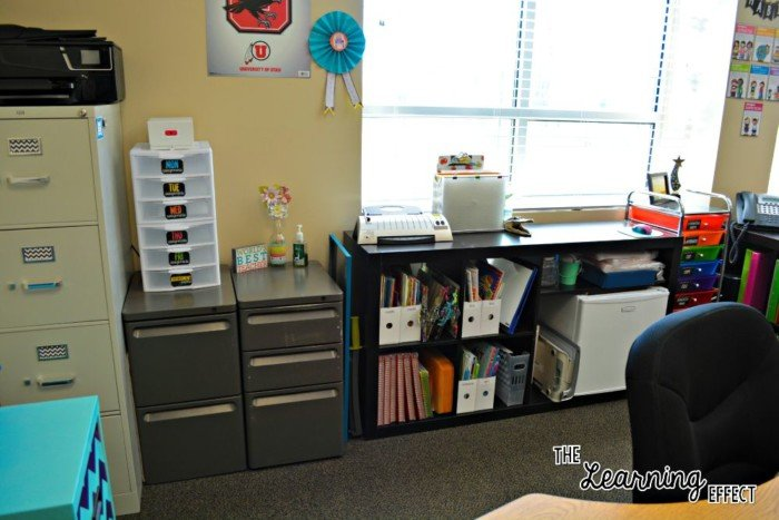 filing cabinets and bookcase