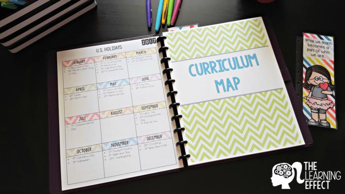 teacher planner spread