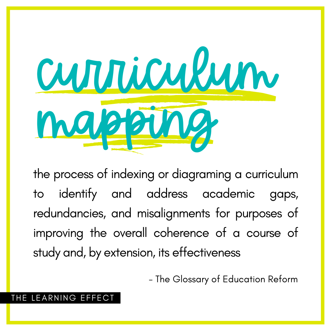 curriculum mapping definition